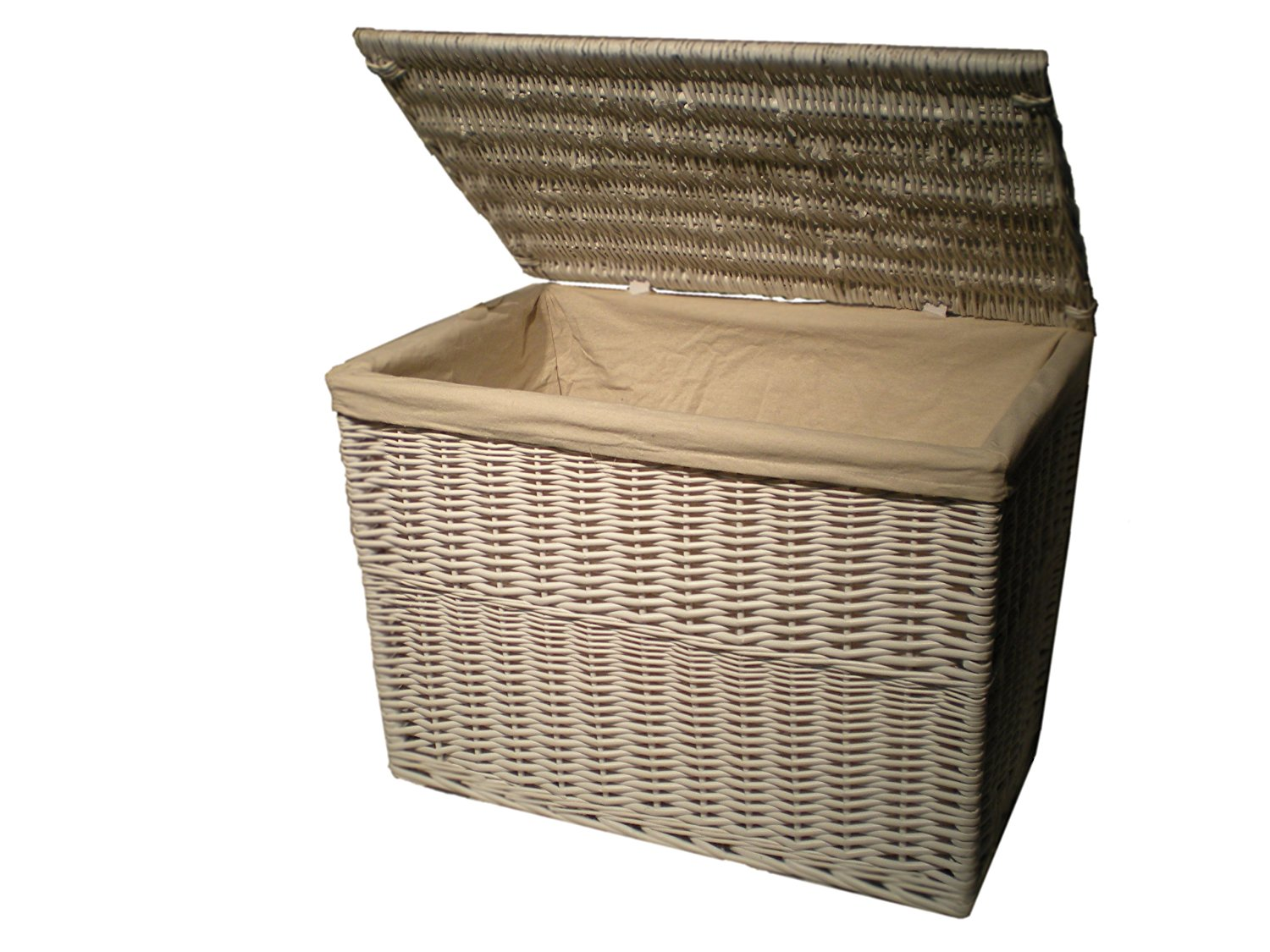 White Wicker Trunk