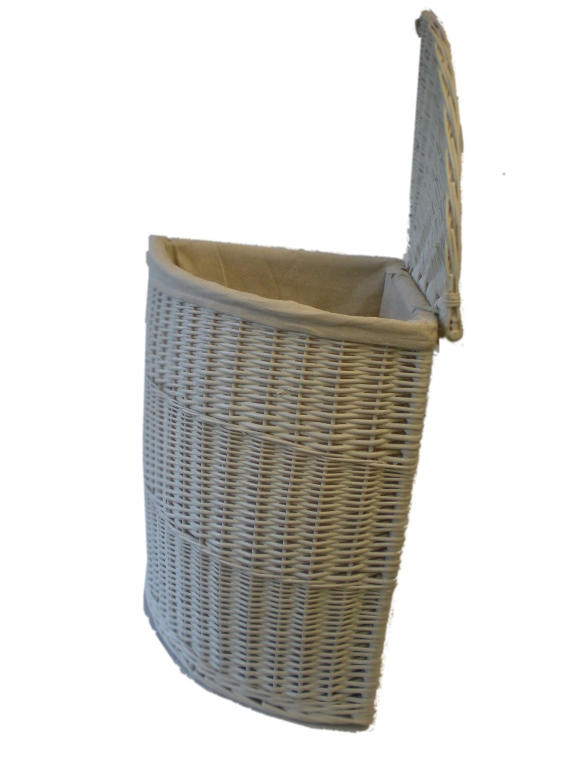 W563 White Laundry Basket - Small